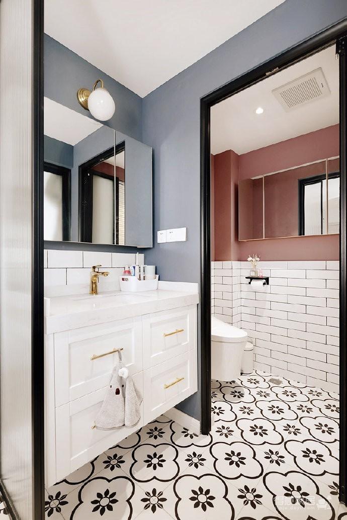 48平小户型装修,卫生间的三分离设计,客厅的书柜收纳设计,卧室的衣物收纳设计,移门采光设计以及阳台的布局都是这套户型设计中的精彩之处图_8