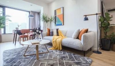 80㎡清新简约两居室装修,温馨舒适的家,还有投影仪,喜欢! 