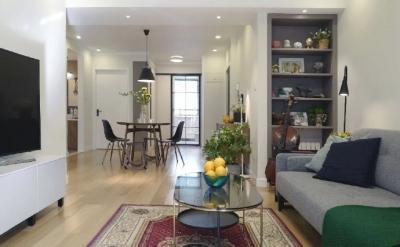98㎡现代简约风格家居装修设计,温润又温馨之家! 
