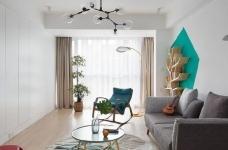 150㎡极具特色的三房装修案例,色彩运用好丰富!图_2