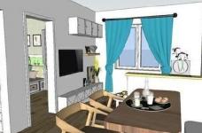 95㎡简欧家居,装饰上以传统风格为代表,结合现代元素图_2