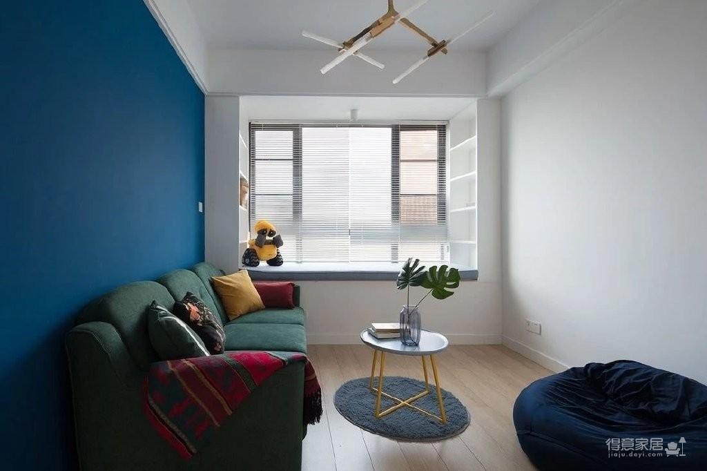 150㎡极具特色的三房装修案例,色彩运用好丰富!图_9