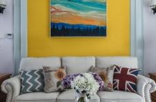 黄色,浅蓝色是空间的主色调,少量白色糅合图_5