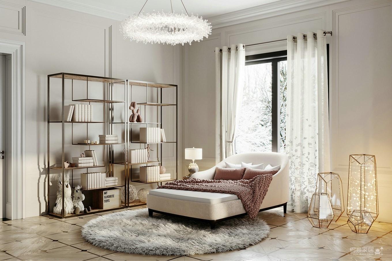 极简白遇上简欧元素,营造浪漫而舒适的家
