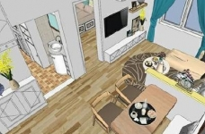 95㎡简欧家居,装饰上以传统风格为代表,结合现代元素图_4