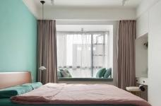 150㎡极具特色的三房装修案例,色彩运用好丰富!图_3