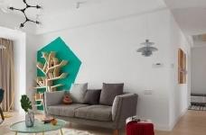 150㎡极具特色的三房装修案例,色彩运用好丰富!图_1