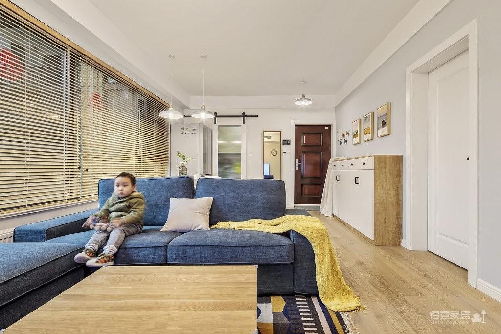 80㎡两居室原木风格小两居,质朴又清新!图_3