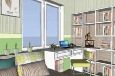 95㎡简欧家居,装饰上以传统风格为代表,结合现代元素图_9