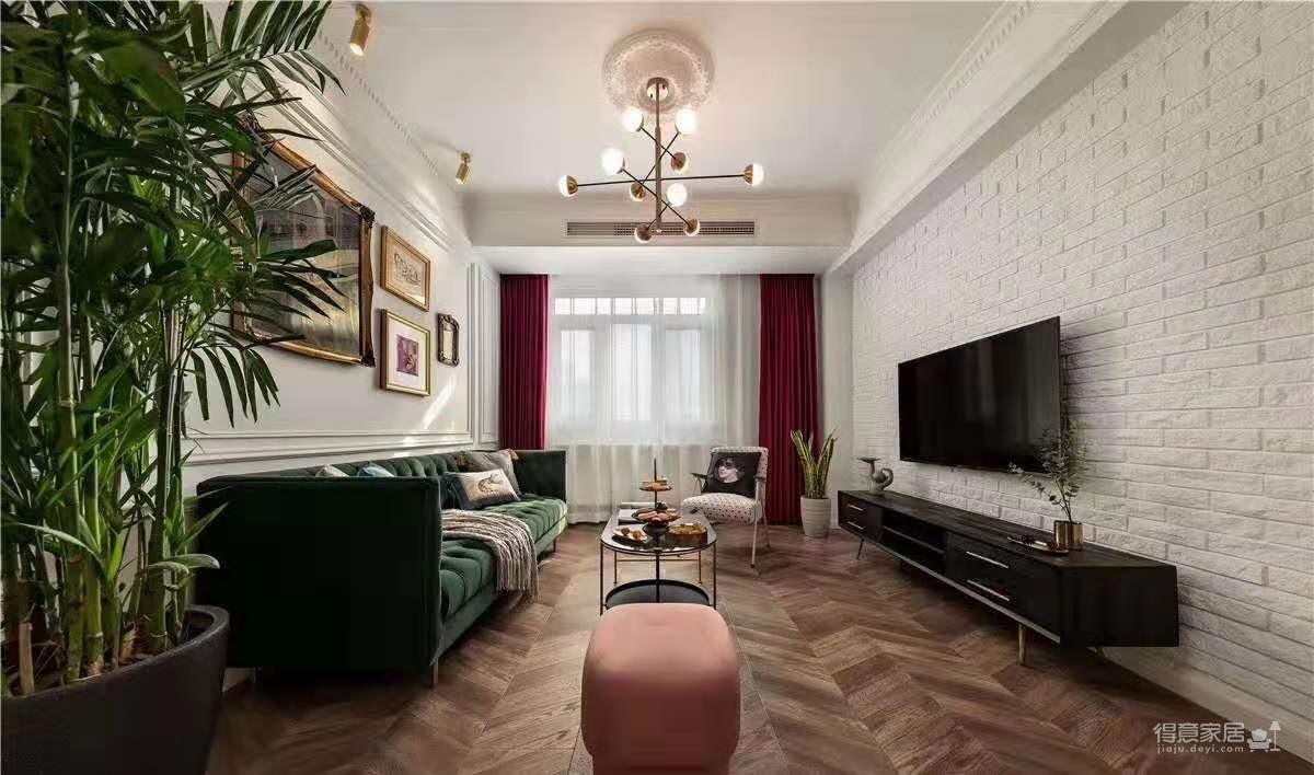 120平三室两厅法式轻奢风图_3