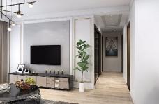 本案设计充分利用不规整的零碎空间,采用现代美式混搭风,呈现最合理舒适的环境图_2