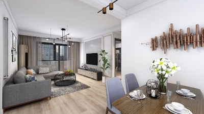 本案设计充分利用不规整的零碎空间,采用现代美式混搭风,呈现最合理舒适的环境