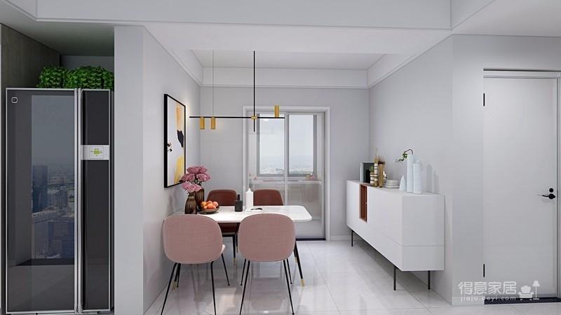 业主一家决定用北欧的简洁清爽开启崭新的生活。在简洁的空间里,通过巧妙地利用原始案例,营造出一个清爽舒适的氛围感图_5