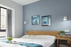 76平简约风格装修,客厅和厨房墙壁打通,用黑色金属边框玻璃做隔断,2个空间都瞬间开阔并且采光很好图_3