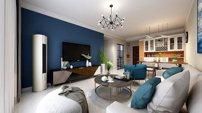 布置的很简约,显得整个空间都挺宽敞的,还有以暖色调为主,很有层次的灯光,都显得轻奢舒适。