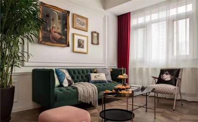 120平三室两厅法式轻奢风
