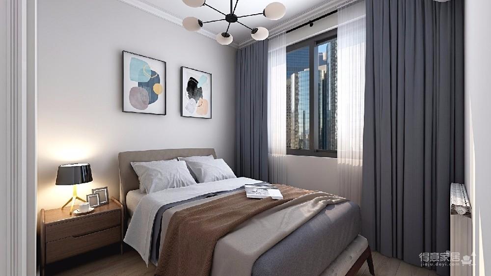 本案设计充分利用不规整的零碎空间,采用现代美式混搭风,呈现最合理舒适的环境图_3