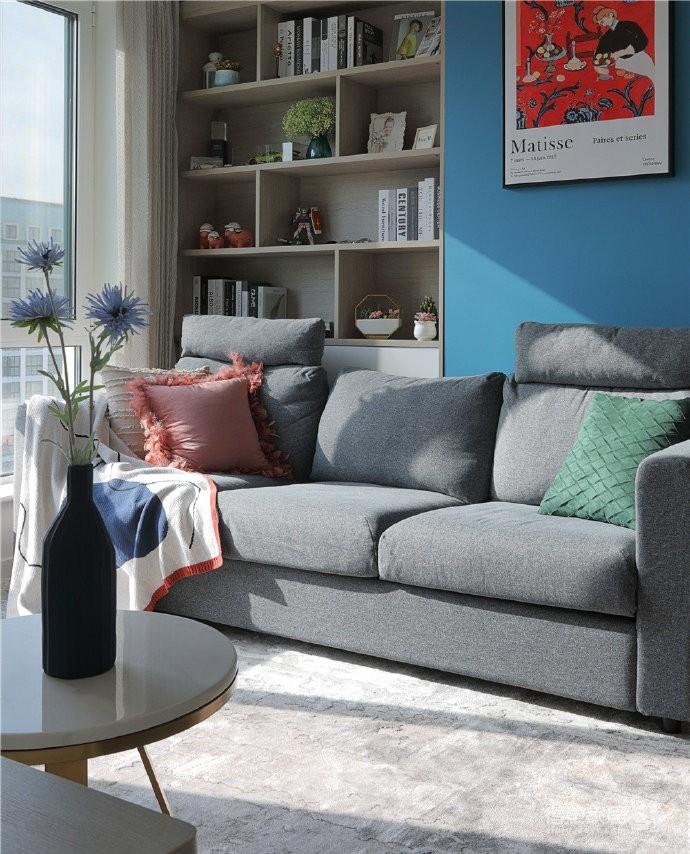 82平混搭家,各种元素的组合,既有北欧的温馨与舒适,又有法式的浪漫与别致图_4