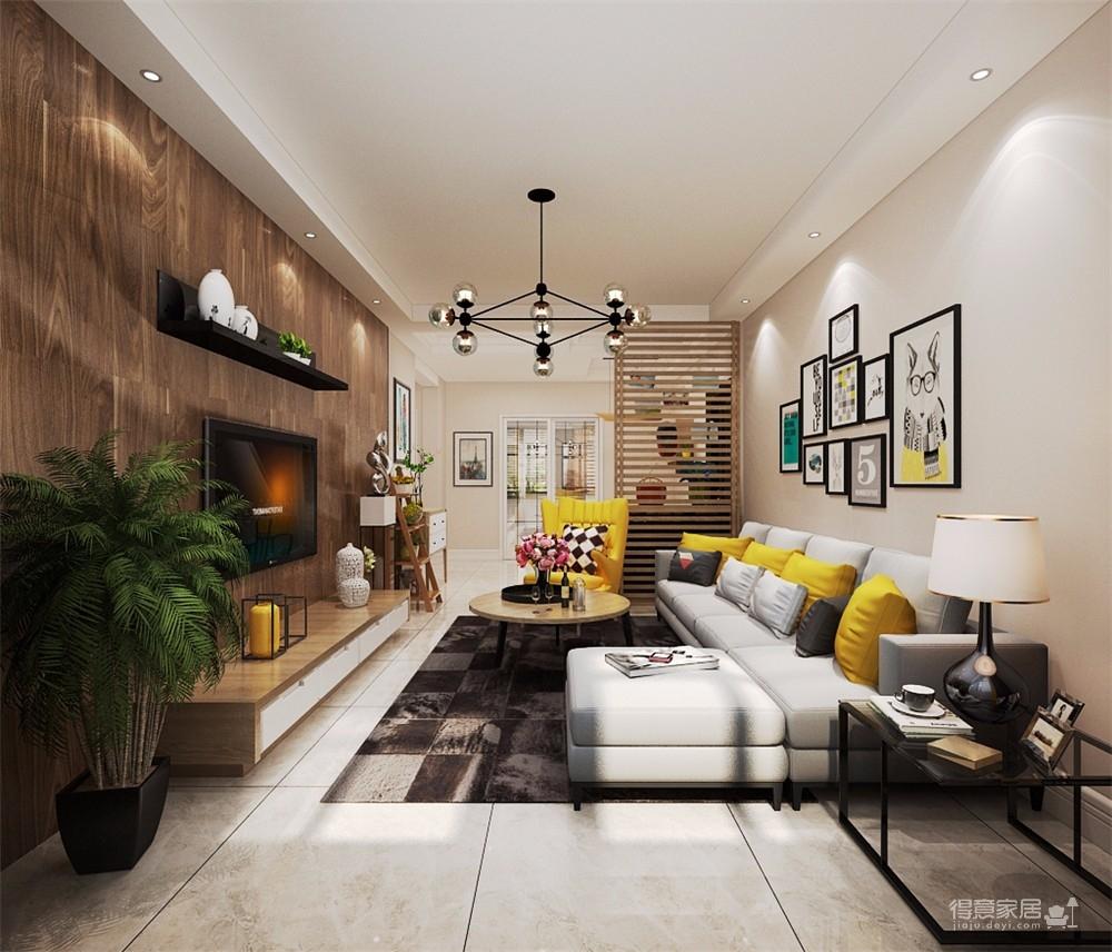 暖色的墙面,简洁明快的家具,给人营造了非常温馨的家的氛围。