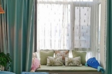 98平北欧风装修,喜欢整体搭配,特别是布帘是素色的,纱帘带点绣花会比较有感觉图_5