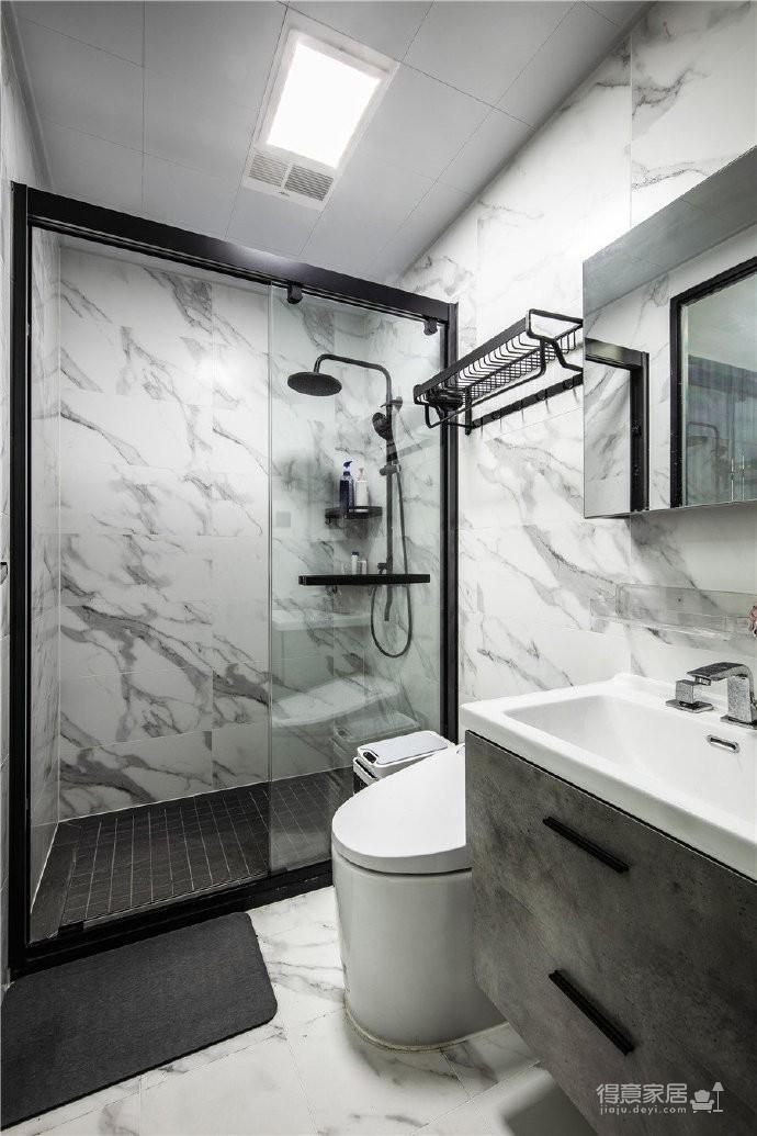 """180现代简约风,黑白灰是整个房屋的主色调,很好的满足了业主""""冷静理智""""的空间需求图_8"""