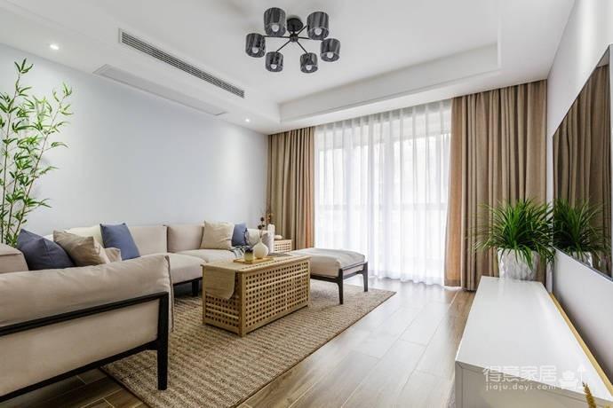 92㎡日式与北欧风格混搭的家居装修设计案例!图_2