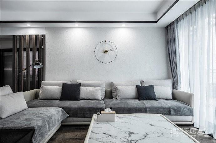"""180现代简约风,黑白灰是整个房屋的主色调,很好的满足了业主""""冷静理智""""的空间需求图_2"""