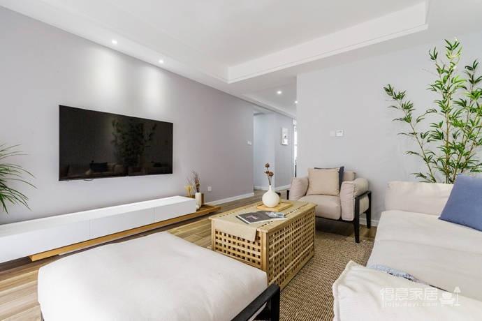 92㎡日式与北欧风格混搭的家居装修设计案例!图_3