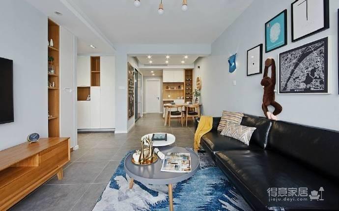 89㎡北欧风格家居装修设计,时尚简洁又不失温馨自然! 