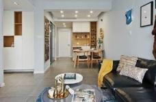89㎡北欧风格家居装修设计,时尚简洁又不失温馨自然! 图_1