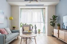 90㎡简约北欧风格家居装修设计,清新自然的室内氛围让人非常安静,很棒的住宅空间! 图_1