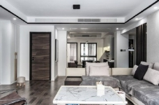 """180现代简约风,黑白灰是整个房屋的主色调,很好的满足了业主""""冷静理智""""的空间需求图_1"""