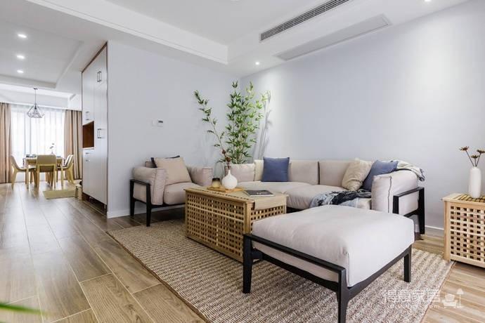 92㎡日式与北欧风格混搭的家居装修设计案例!图_1