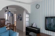 圆拱门让生活更有情调,还有一半书房一半卧室,办公生活两不误图_3