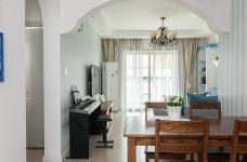 圆拱门让生活更有情调,还有一半书房一半卧室,办公生活两不误图_21