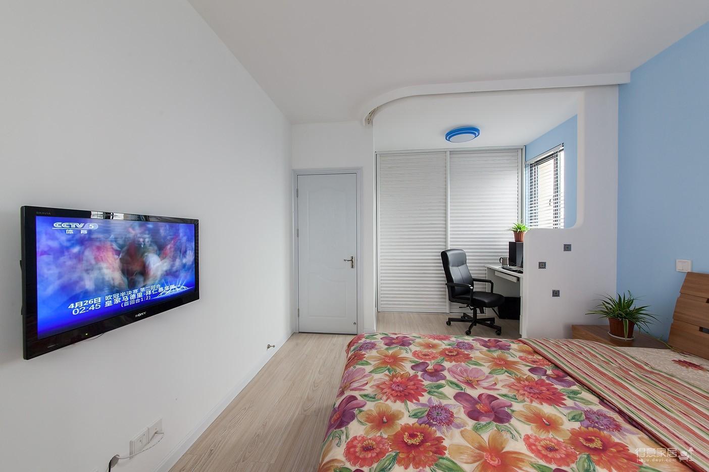 圆拱门让生活更有情调,还有一半书房一半卧室,办公生活两不误图_15