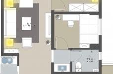 金地自在城93平3室两厅简美图_7
