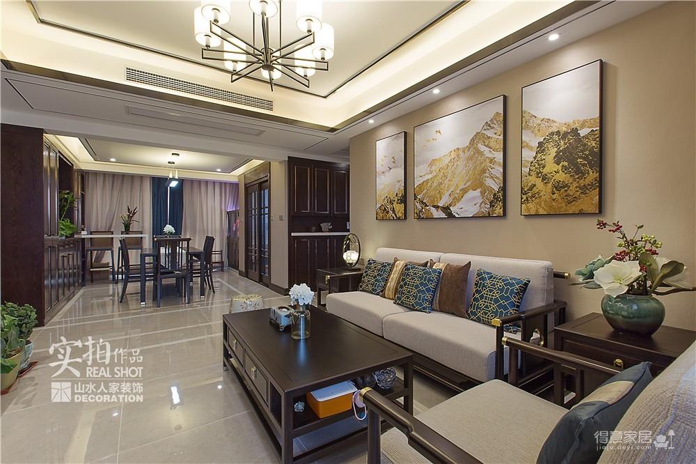 广电兰亭时代140平三室新中式图_6