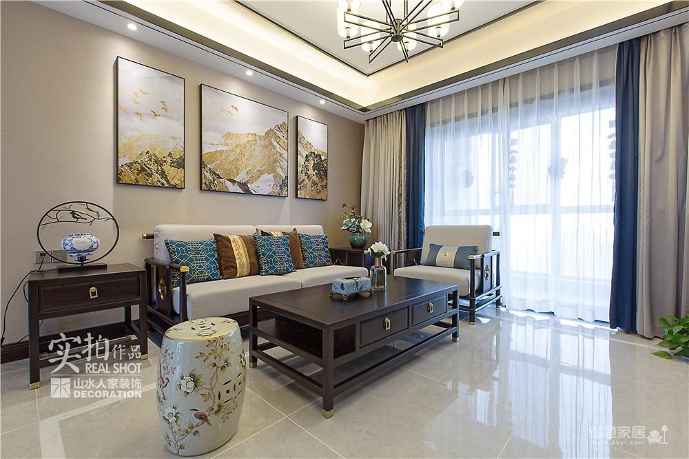 广电兰亭时代140平三室新中式图_9
