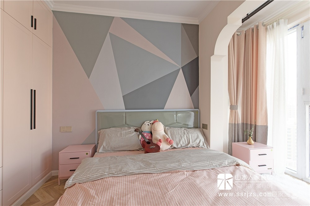 115平三房两厅两卫粉红轻奢图_20