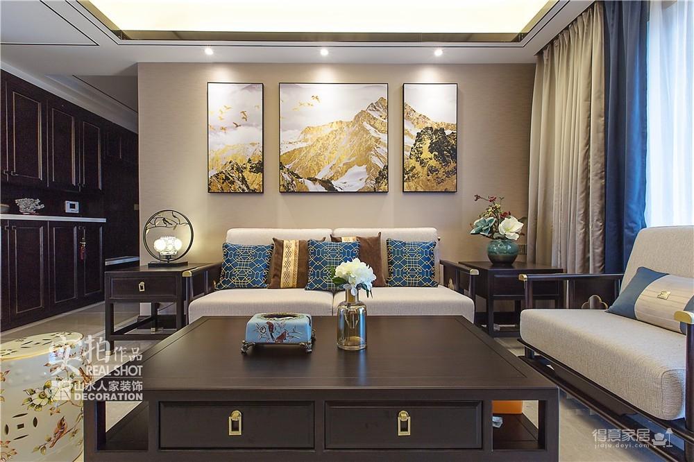 广电兰亭时代140平三室新中式图_8