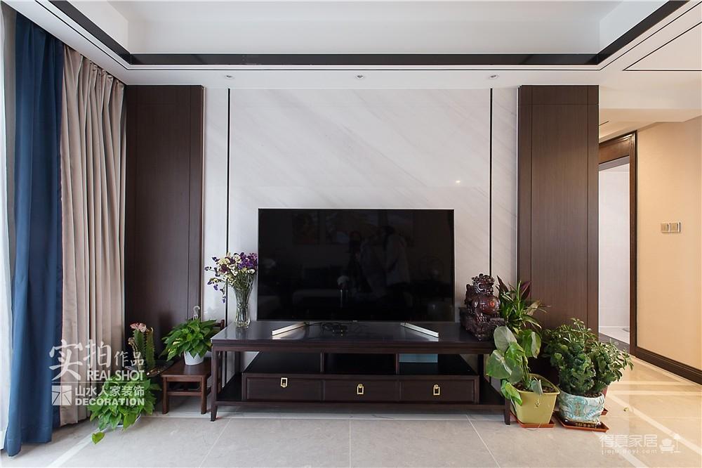 广电兰亭时代140平三室新中式