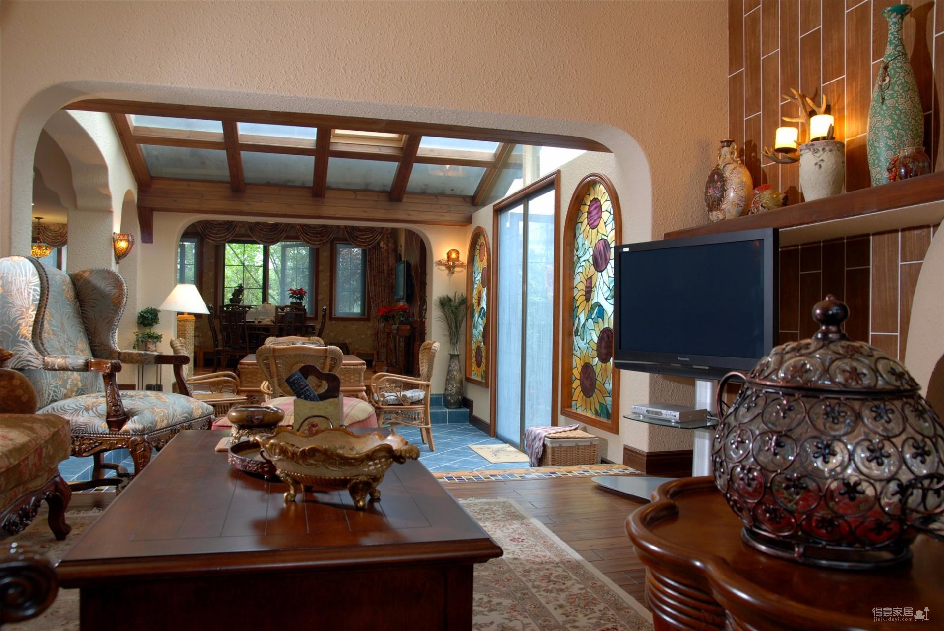地中海风格精装别墅案例分享图_2