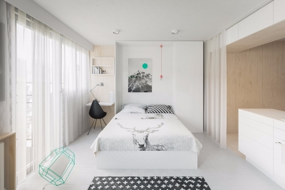 现代风格清新素雅两室一厅