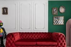 1+1>2 红绿CP喜形于色,精装房也能时髦高调图_1