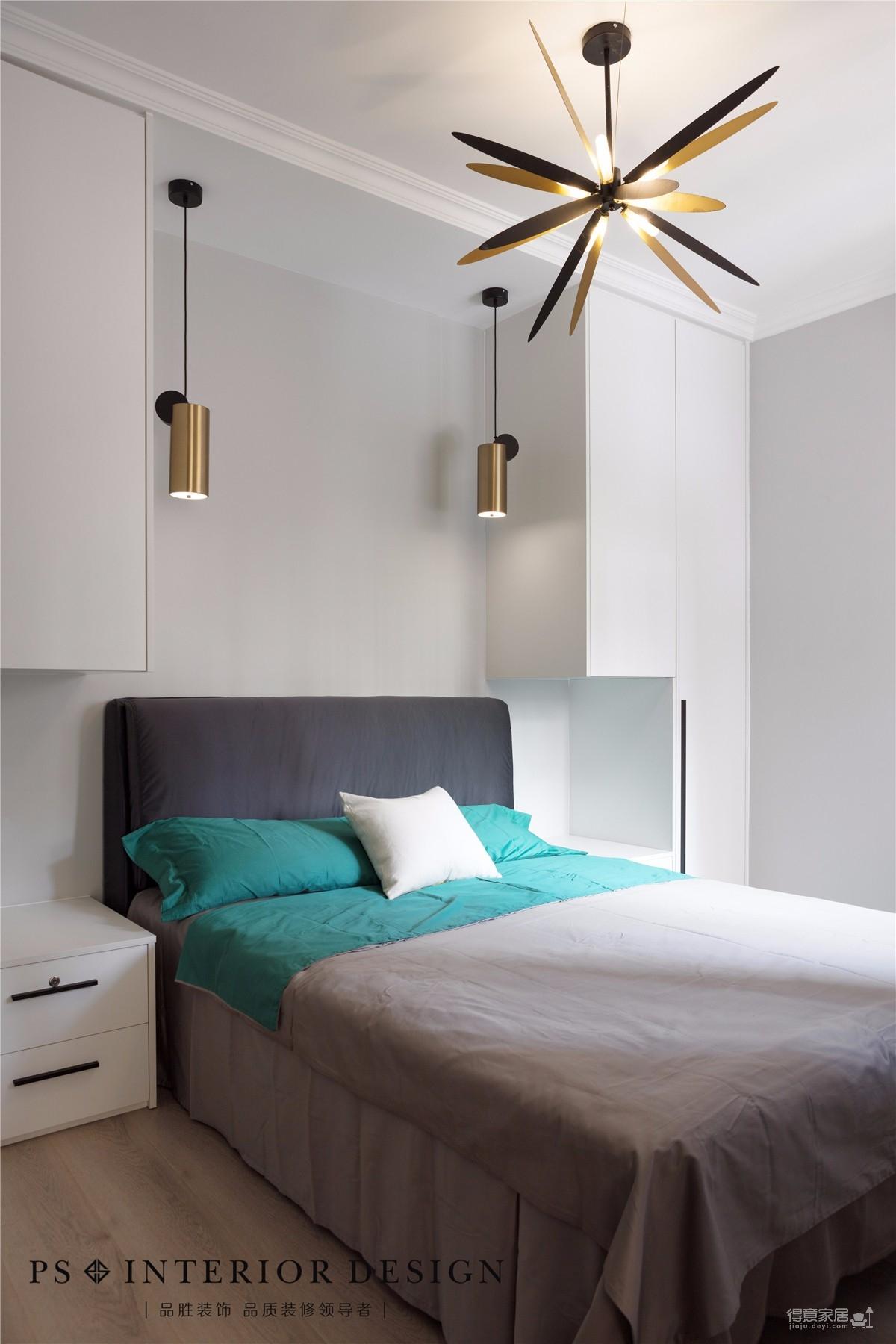锦绣中北墨绿色的墙,两室两厅现代风图_6