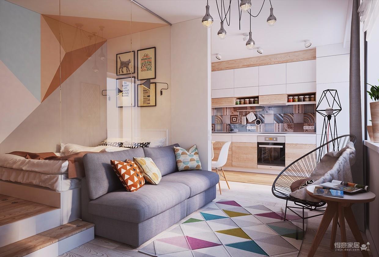 简单的一居室竟然可以这样设计?图_2