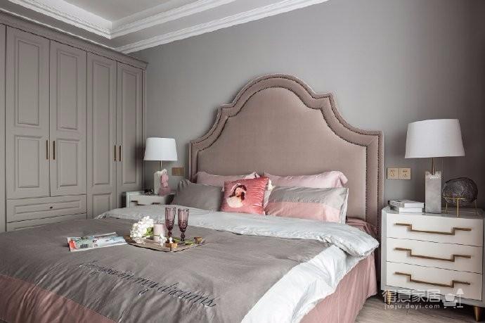 126平现代美式风装修,喜欢粉色和灰色搭配的家,温馨又有情趣图_5