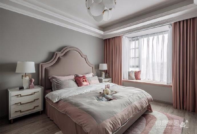126平现代美式风装修,喜欢粉色和灰色搭配的家,温馨又有情趣图_6