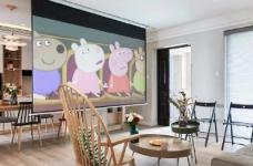 80平文艺北欧风装修,整屋风格风格偏简洁,暖灯,粉墙,再加上点绿意,超级温馨图_1